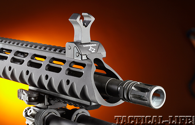 Stag Arms Model 3T-M rifle sight muzzle