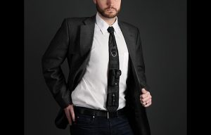 ThinkGeek Laser-Guided Tactical Necktie worn
