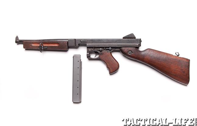 Thompson submachine gun left