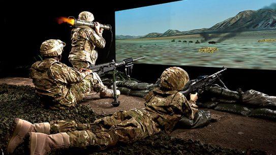Training Simulators Meggitt three-screen mixed weapons