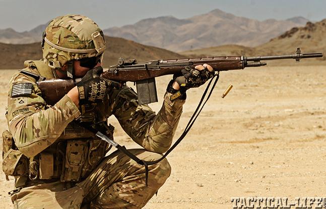 U.S. M14 Battle Rifle firing