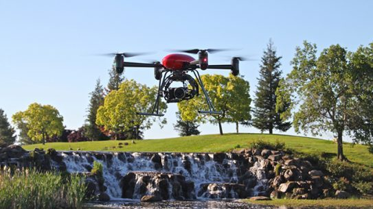 Draganflyer X4P red lead UAVs drones North Dakota