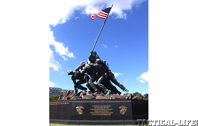 Fourth of July Iwo Jima flag