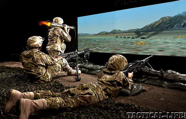Meggitt Training Systems 3-screen mixed weapons