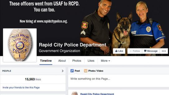 Rapid City Police Department social media