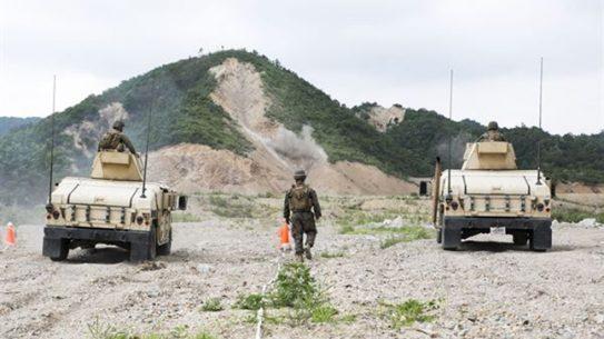ROK US Marines live-fire training