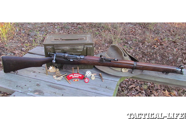 Short Mag Lee Enfield firearm