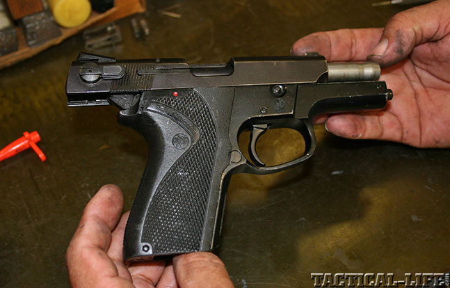 Smith and Wesson 6906 handle