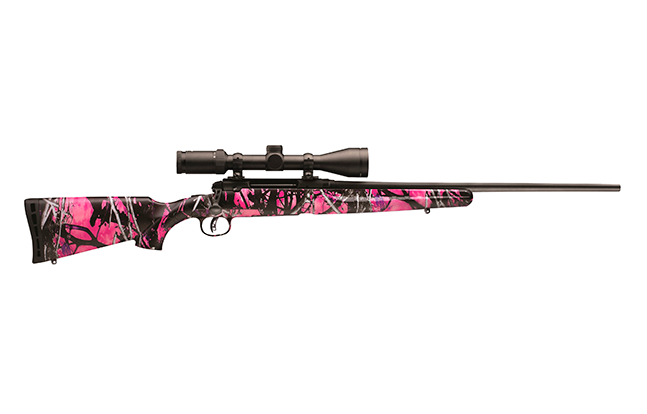 Savage Arms AXIS II XP Youth Muddy Girl pink camo package