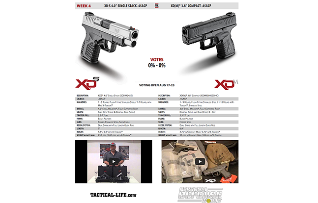 Springfield Armory XD-S vs. XD(M) duel