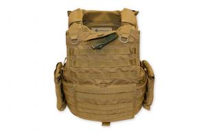 Tacprogear BLACK Releasable Body Armor Vest RBAV
