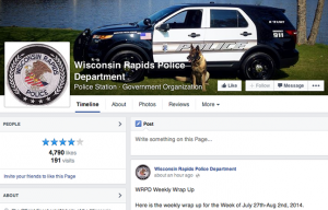 Wisconsin Rapids Police Department Facebook
