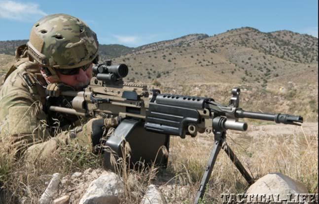Video Firing Us Machine Gun Armory S M249 Saw In 6 8 Spc