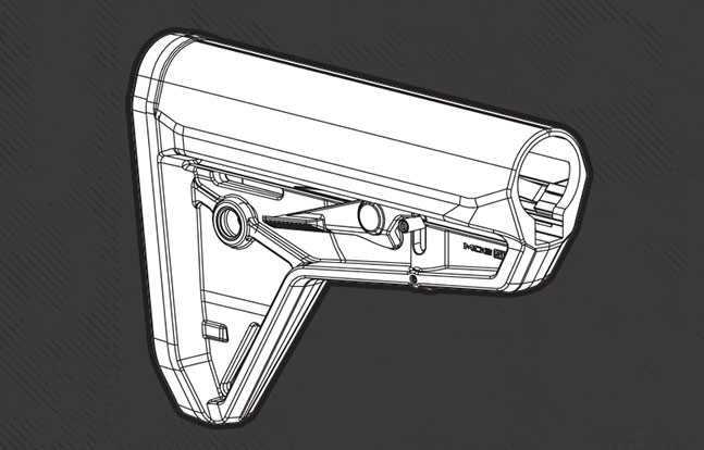 Magpul MOE SL Stock sketch