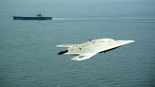 X-47B USS Theodore Roosevelt Testing
