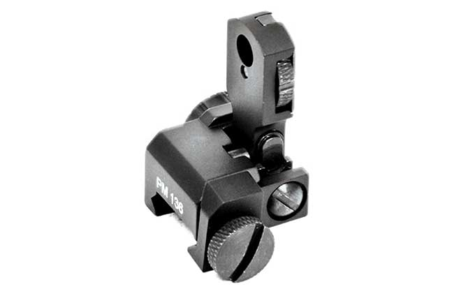 11 Back Up Iron Sights Promag AR-15/M16 Flip Ups rear
