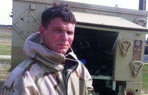 David Mensink Army grenade leg