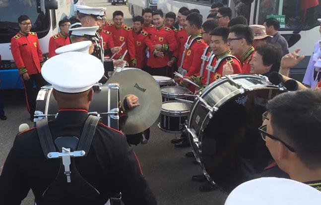 Marines Korea drum battle