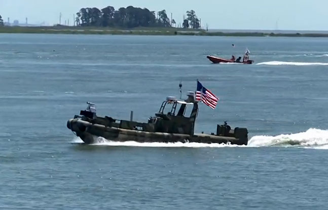 US Navy Hi-Tech Unmanned Boat