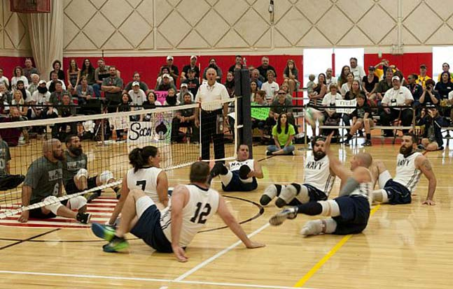 Navy Warrior Games sitting volleyball teams