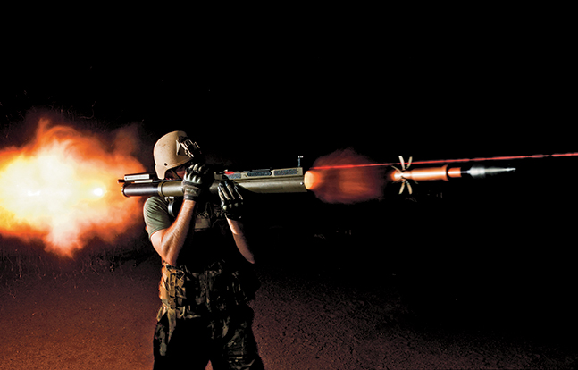 Soldier firing M72 LAW.