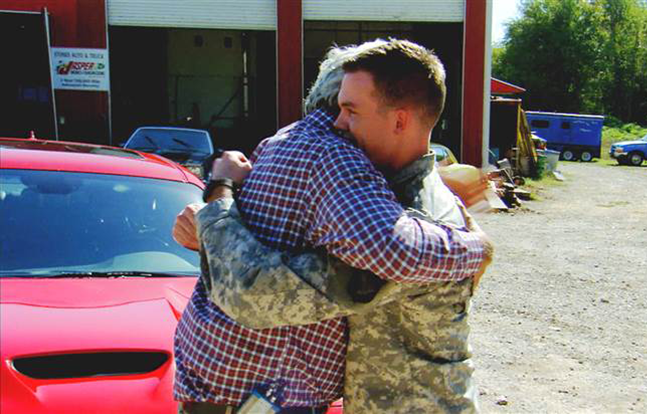 Jay Leno car Wounded Veteran
