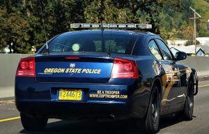 Oregon State Police car marijuana