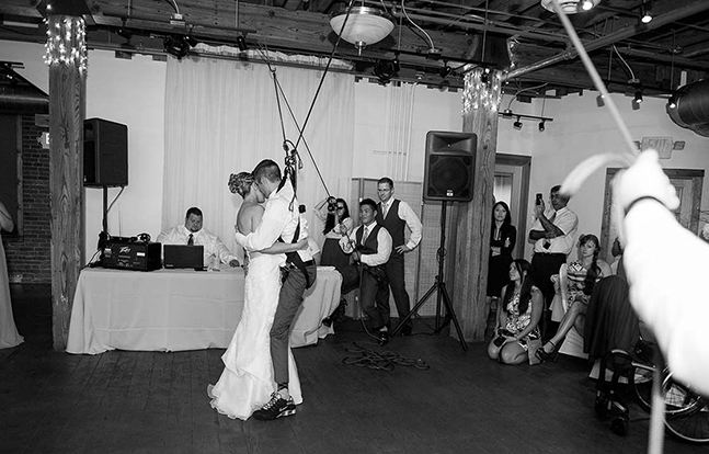 Paraplegic Vet Wedding Dance