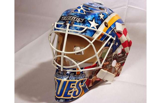 St. Louis Blues mask front