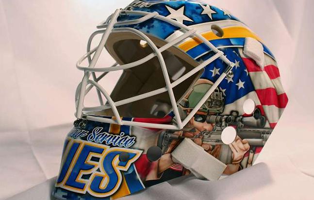 St. Louis Blues mask left