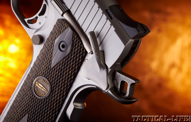 Combat Handguns top 1911 2015 AUTO-ORDNANCE THOMPSON 1911 TC .45 ACP trigger