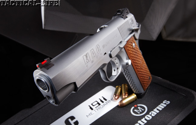 Combat Handguns top 1911 2015 MAC 1911 BOBCUT .45 ACP barrel