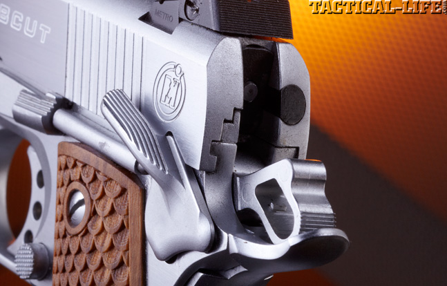 Combat Handguns top 1911 2015 MAC 1911 BOBCUT .45 ACP rear