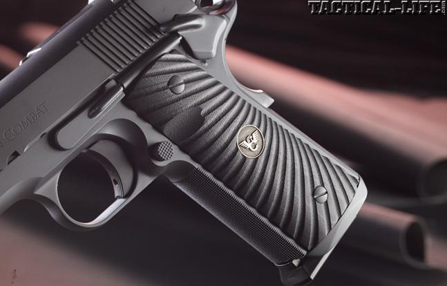 Combat Handguns top 1911 2015 WILSON COMBAT HACKATHORN SPECIAL .45 1911 grip