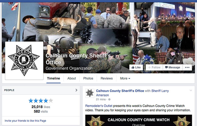 Calhoun County Sheriff's Office Facebook