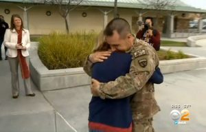 Christmas Military Dad surprise return