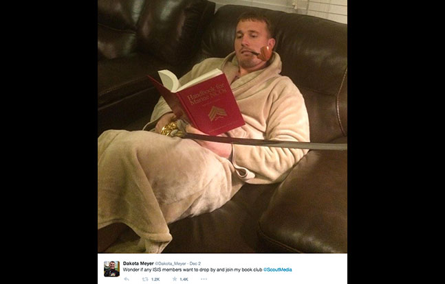 Marine Dakota Meyer ISIS Twitter