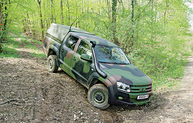 Tactical Trucks SWMP Jan 2015 Germany VW/Rheinmetall Amarok M