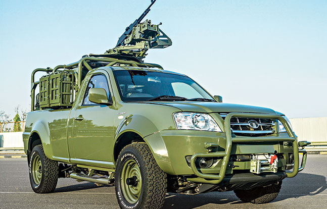 Tactical Trucks SWMP Jan 2015 India Tata Xenon