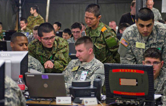 U.S. Army training Japan Ground Self-Defense Force
