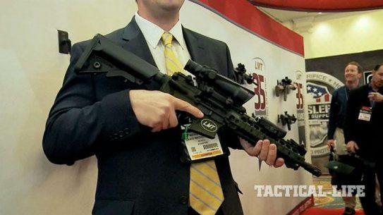 Lewis Machine & Tool CQB MRP Defender Model 16 SHOT Show 2015