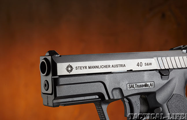 Top 18 Full-Size Guns 2014 STEYR ARMS M40-A1 .40 S&W slide