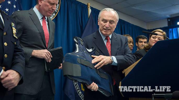 NYPD Commissioner William Bratton buleltproof vests 2015