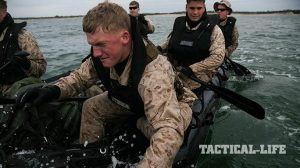 US Marine Corps 2nd Reconnaissance Battalion Marines Beach Training