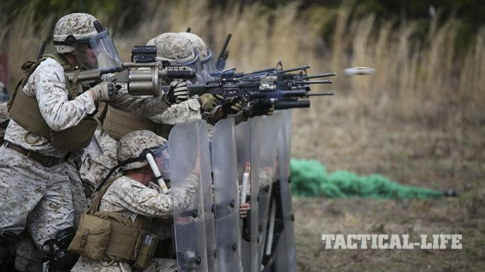 Expeditionary Marines Non-Lethal training