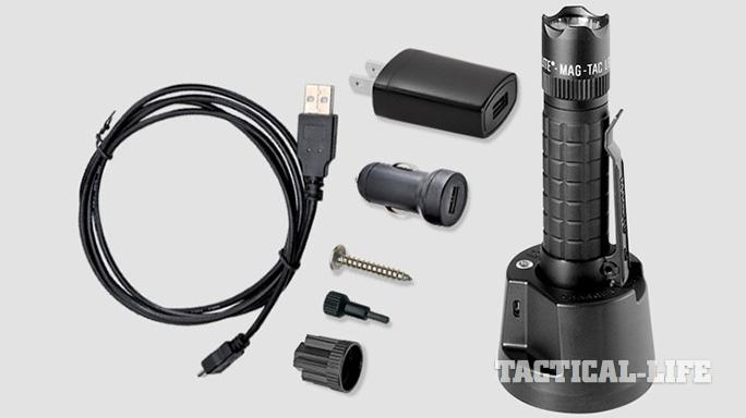 MAG-LITE MAG-TAC LED Rechargeable Flashlight