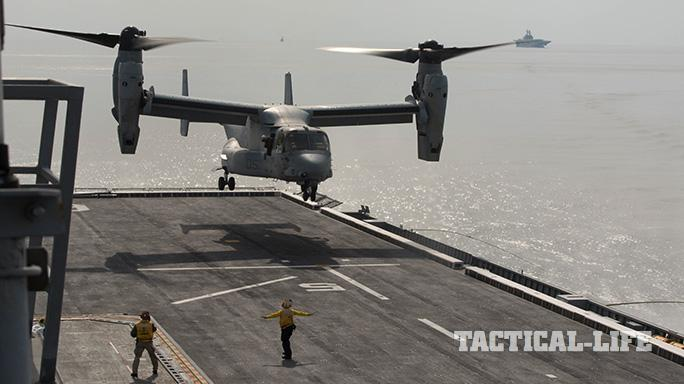 .S. Marine Corps MV-22B Osprey Korean Amphibious Assault Ship