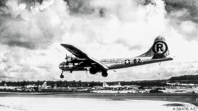 WWII airman SWMP April 2015 landing
