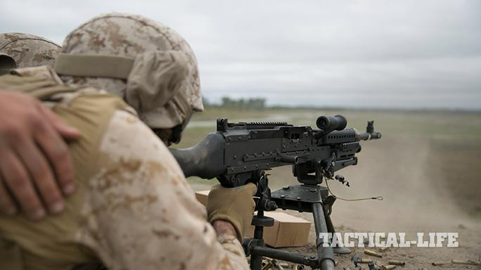 8th ESB Marines Live-Fire Exercises SR8 Machine Gun Range
