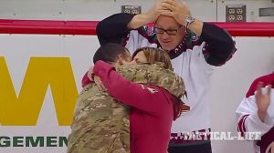 Soldier Surprises Parents Arizona Coyotes Game